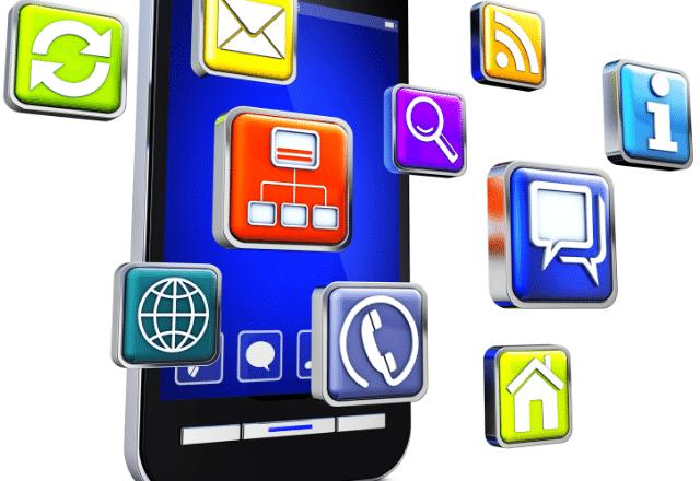 אפליקציות, אייקונים, טלפון חכם