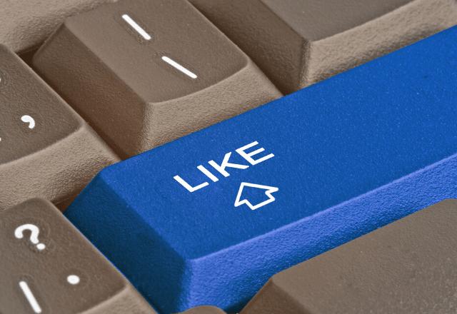 כפתור לייק בפייסבוק